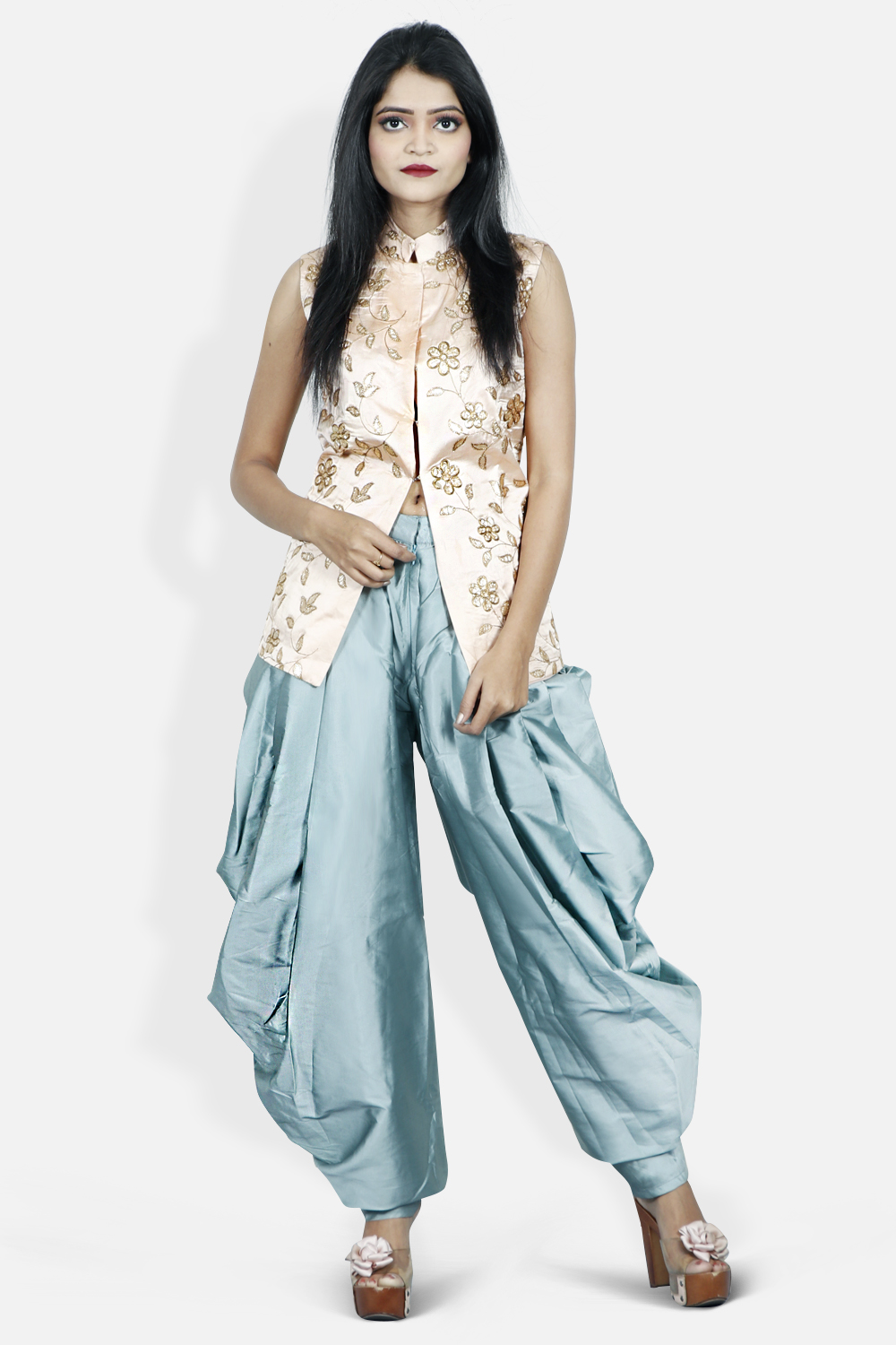 Dhoti Style pants and Top Co-ord Set