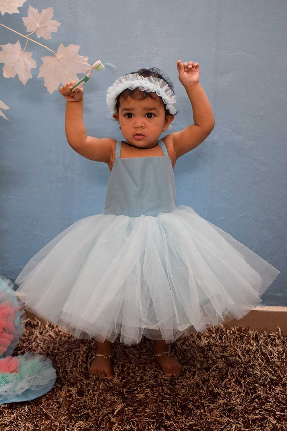 Baby Blue Fairy Tale Dress with Wings