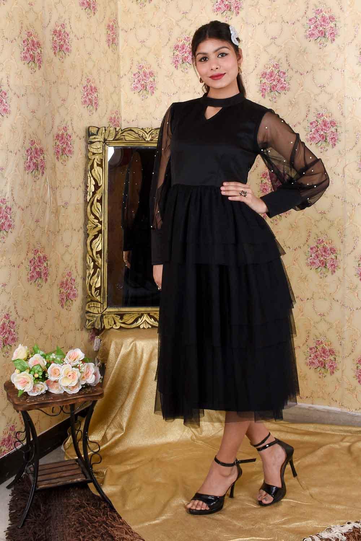 Black Flared Dress