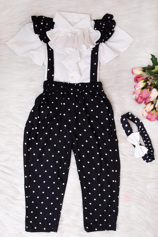Black Polka Dot Bib Pants