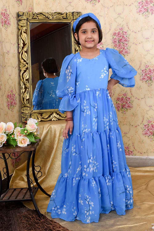 Blue Massive Flare Dress