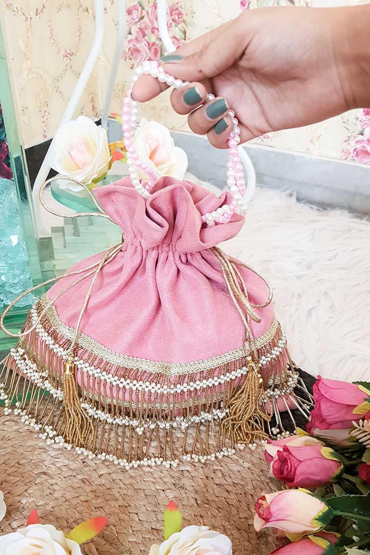 Blush Pink Pretty Potli Bag