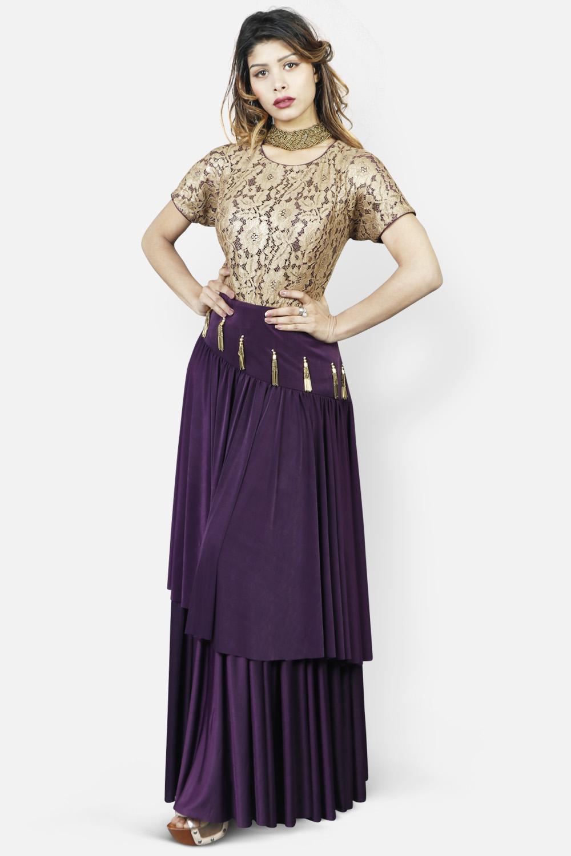 Bronze - Vine Evening Party Gown