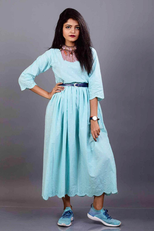 Chikan Midi Dress
