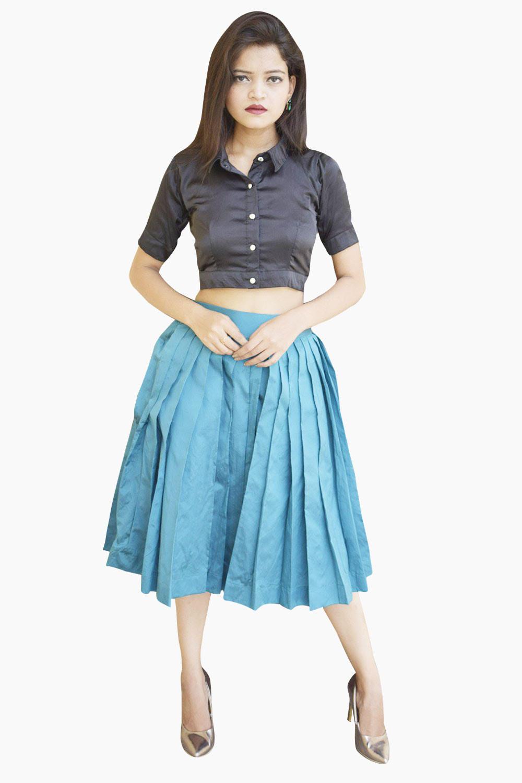 Classy Skirt Top Set
