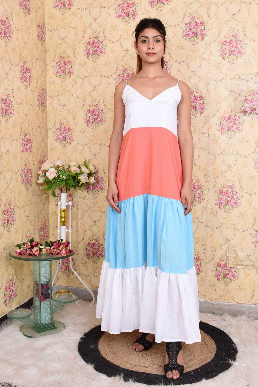 Colorful Massive Flare Dress