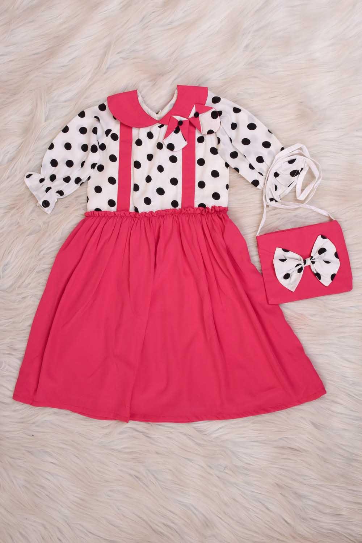 Cute Polka Dot dress with Bag