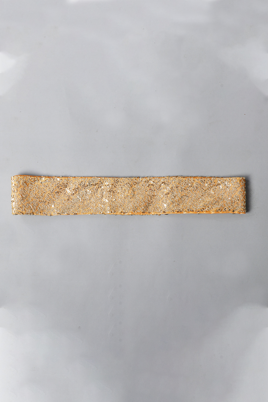 Dull Gold Sequins Belt