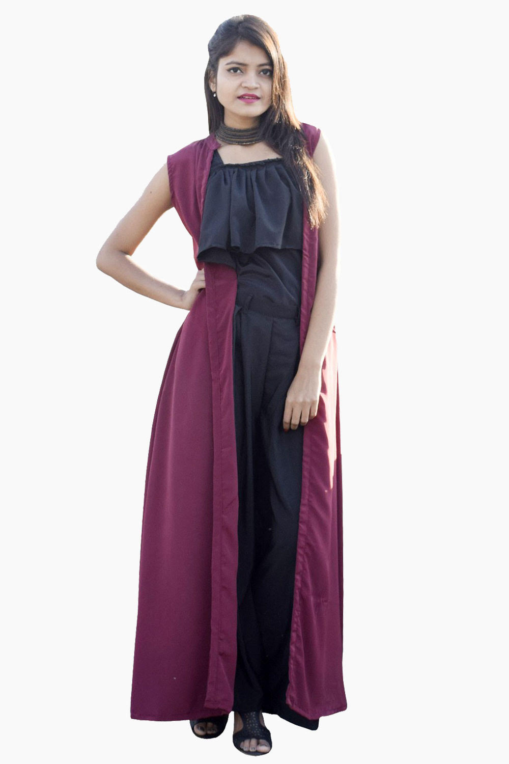 Easy Go Co Ord Pink And Navy Black