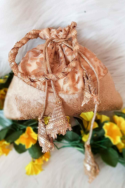 Golden Brocade Potli Bag
