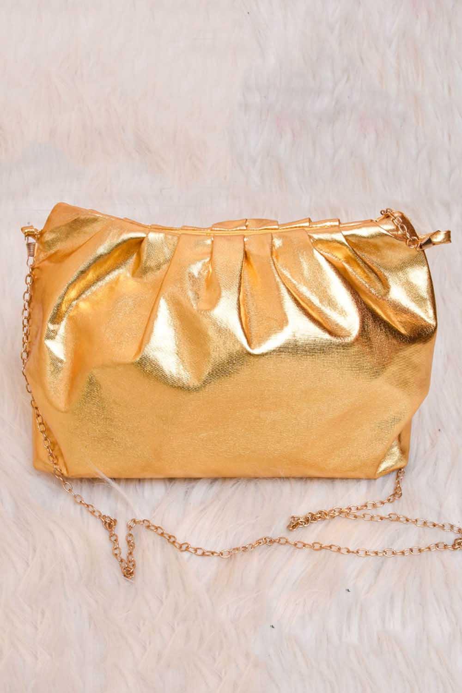 Golden Partywear Sling Bag