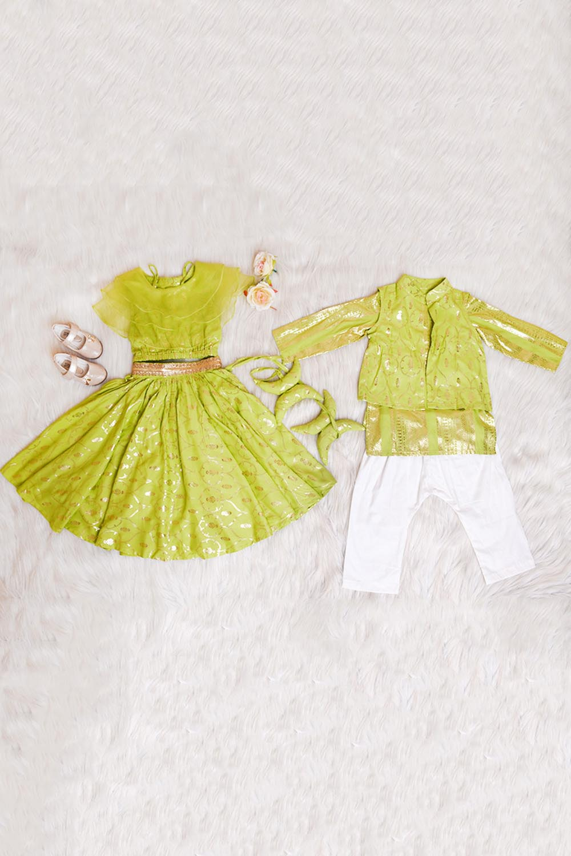 Green Foil Kids combo set