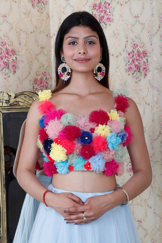 Handmade Flower Blouse