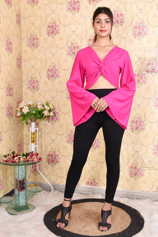 Hot Pink Crop Top