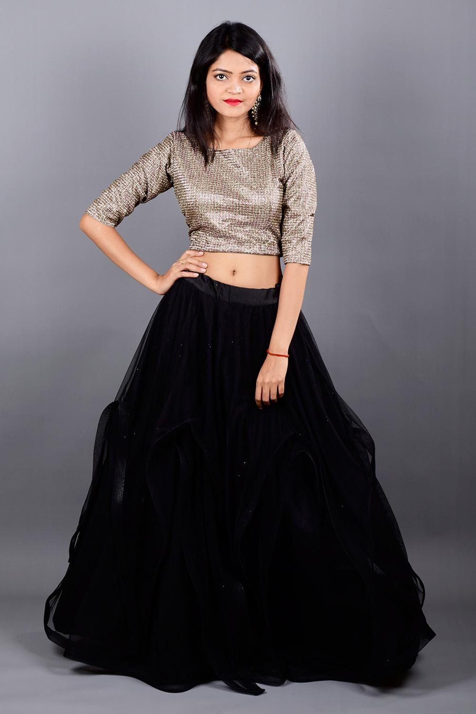 Katie Crop top-Skirt Set