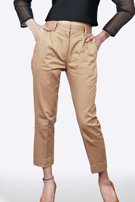 Khaki Woollen Pants