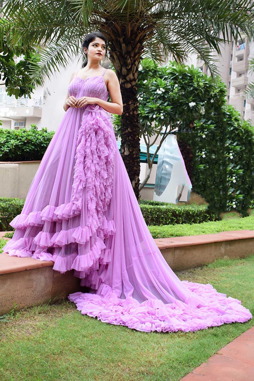 Lavender Princess Gown