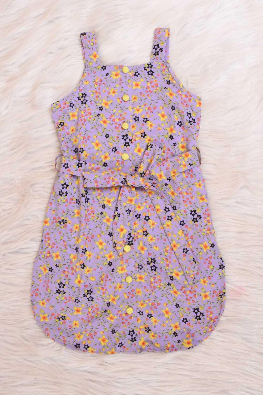 Lavender Printed Midi Dress