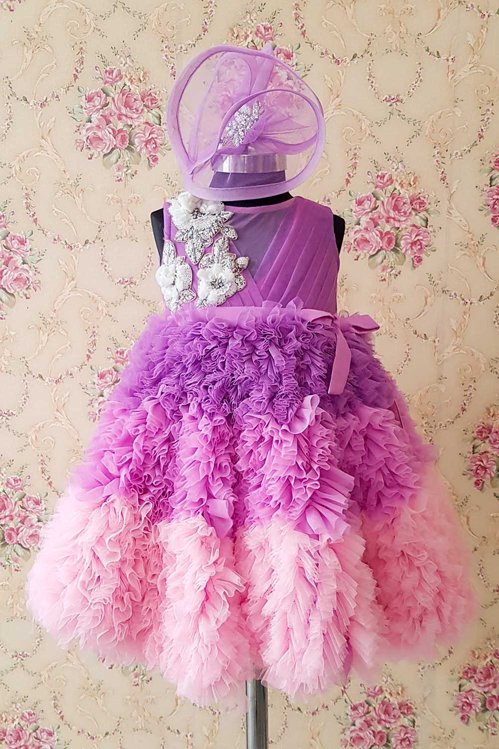 Lavender Ruffled Gown