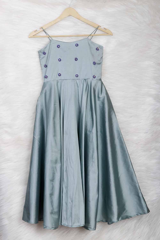 Light Blue Silk Gown