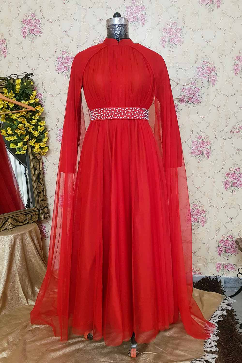 Maroon Arabic Style Gown