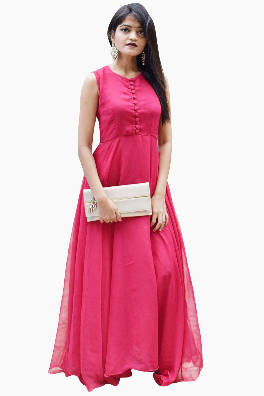 Mazenta Pink Anarkali