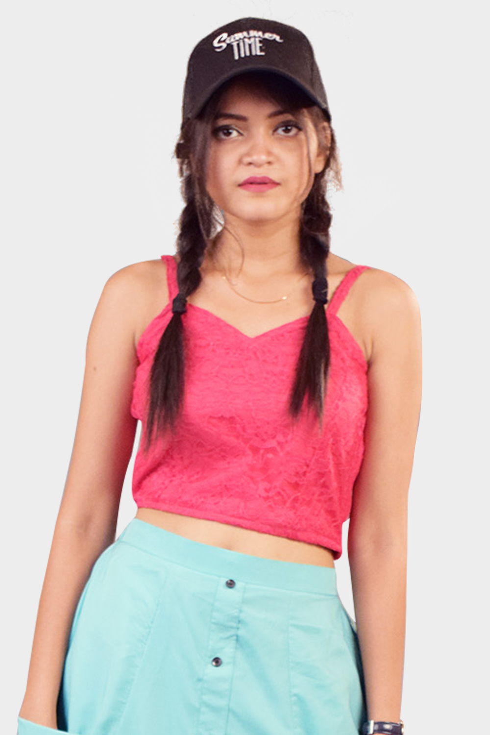 Mazenta pink lace Top