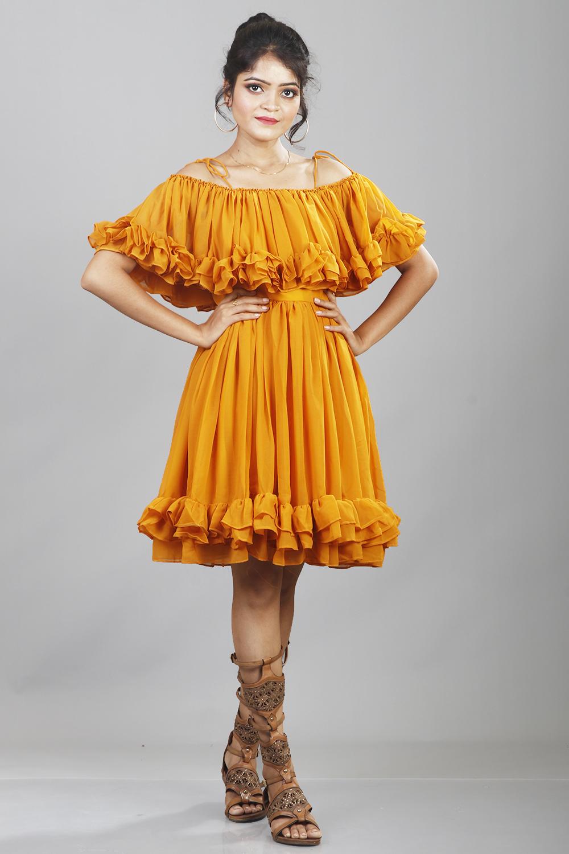 Mustard Alina Dress
