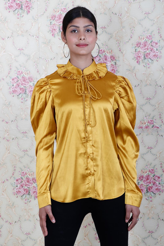 Mustard Designer Shirt