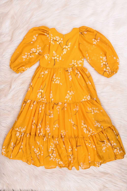 Mustard Massive Flare Dress