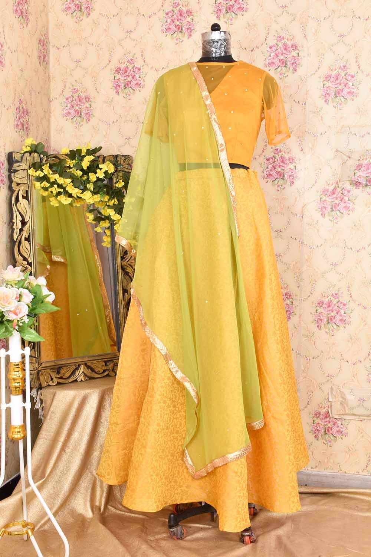 Mustard Skirt Top and Dupatta Set