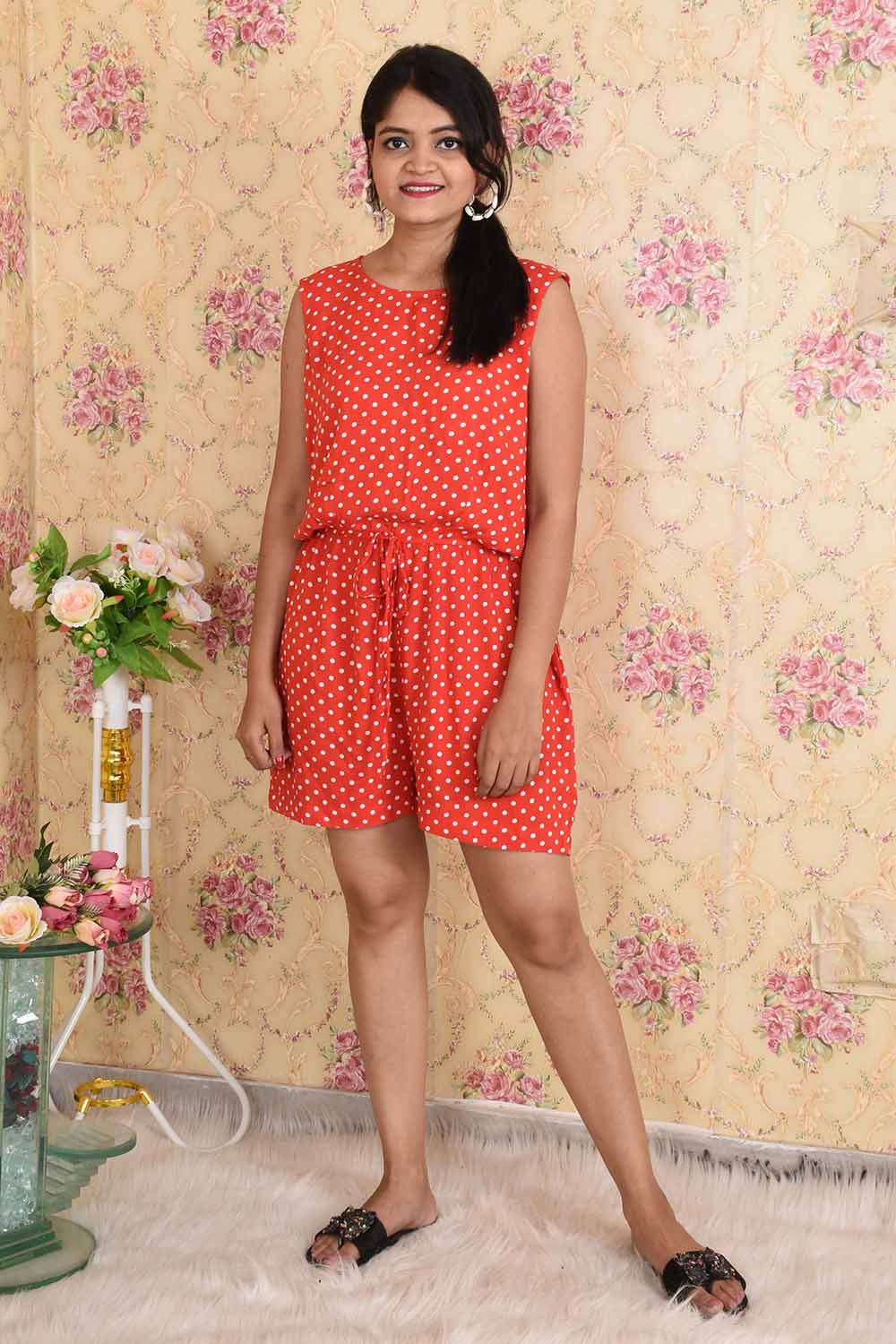 Red Polka Dots Jumpsuit