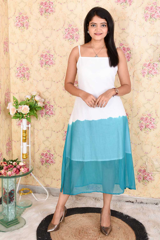 Tie-n-Dye Chiffon Maxi Dress