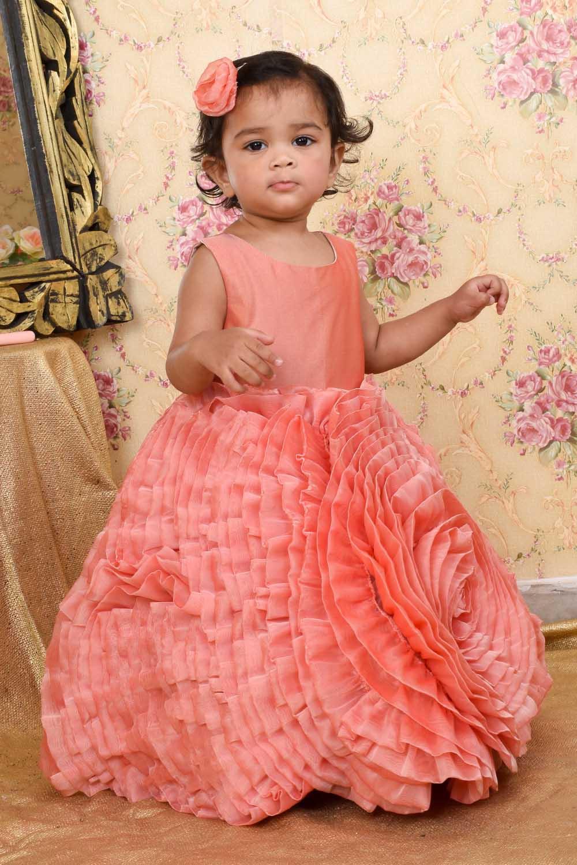 Peach Rose Flower Gown