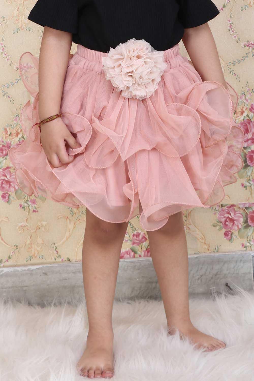 Peach layered Tulle skirt