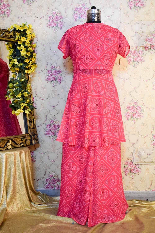 Pink Chunari Print Sharara