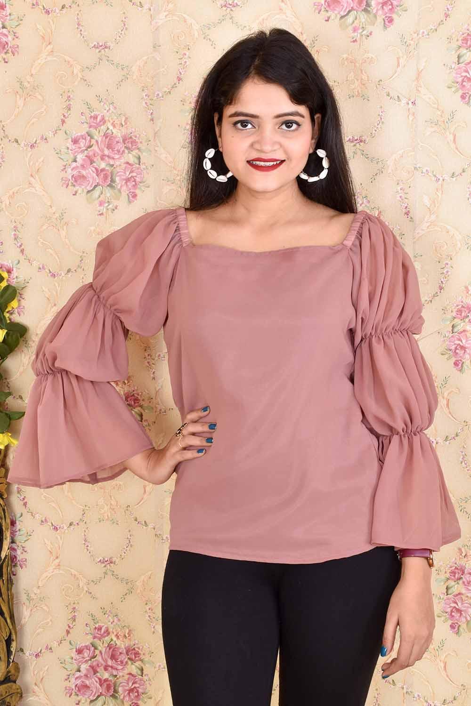 Pink Designer Sleeves Top