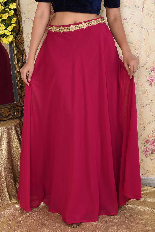 Pink Georgette Skirt