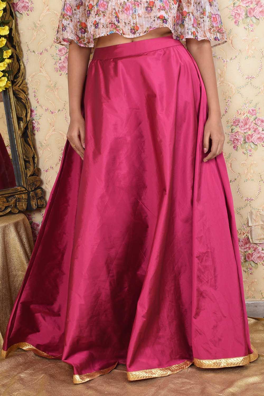 Pink Taffeta Silk Skirt