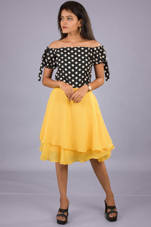 Polka dot top and Skirt set