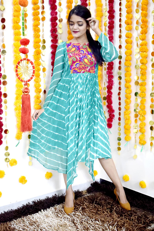 Pretty Chiffon tie & dye kurti