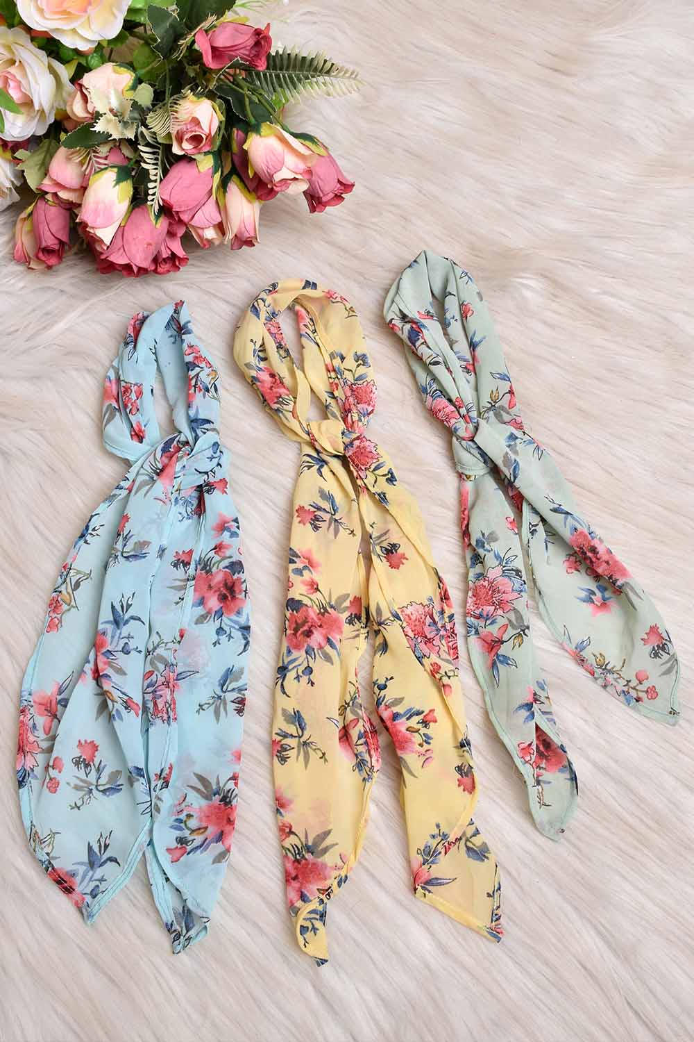 Printed Georgette Ribbons Combo