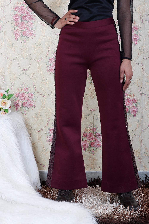 Maroon Partywear Pant