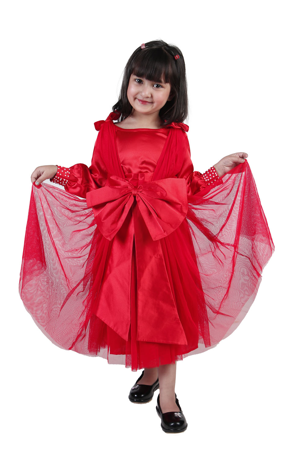Red Bow Love Frock