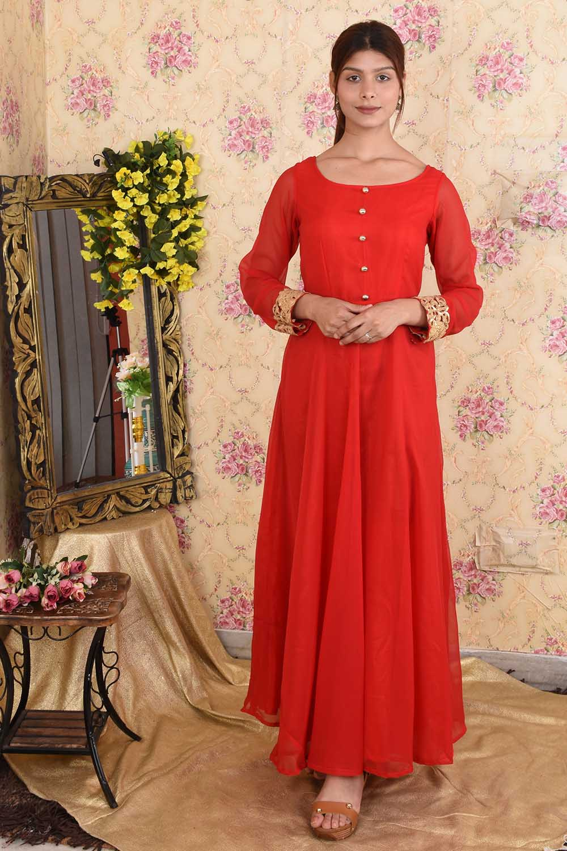 Red Georgette Anarkali