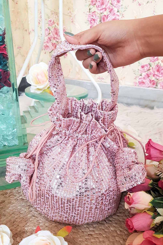 Rose Gold Sequin Potli Bag