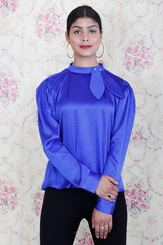 Royal Blue Satin Top
