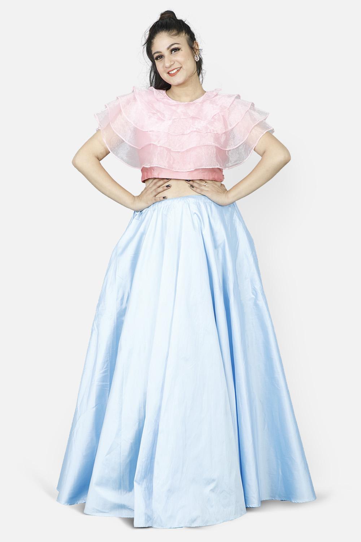 Ruffles Love Crop Top and Skirt Set