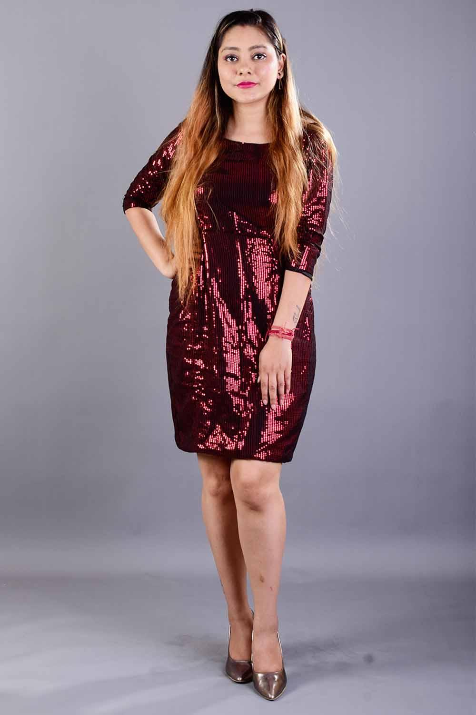 Sequins Bodycon Short Dress