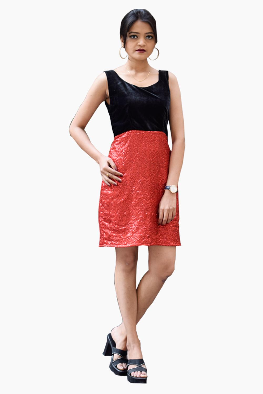 Sequins Love Bodycon Dress